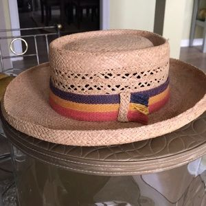 Women's Italian straw hat genuine raffia